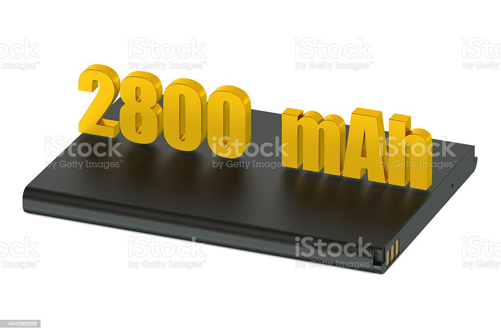 Battery lithium-ion for smatphone and tablet 2800 mAh stock photo