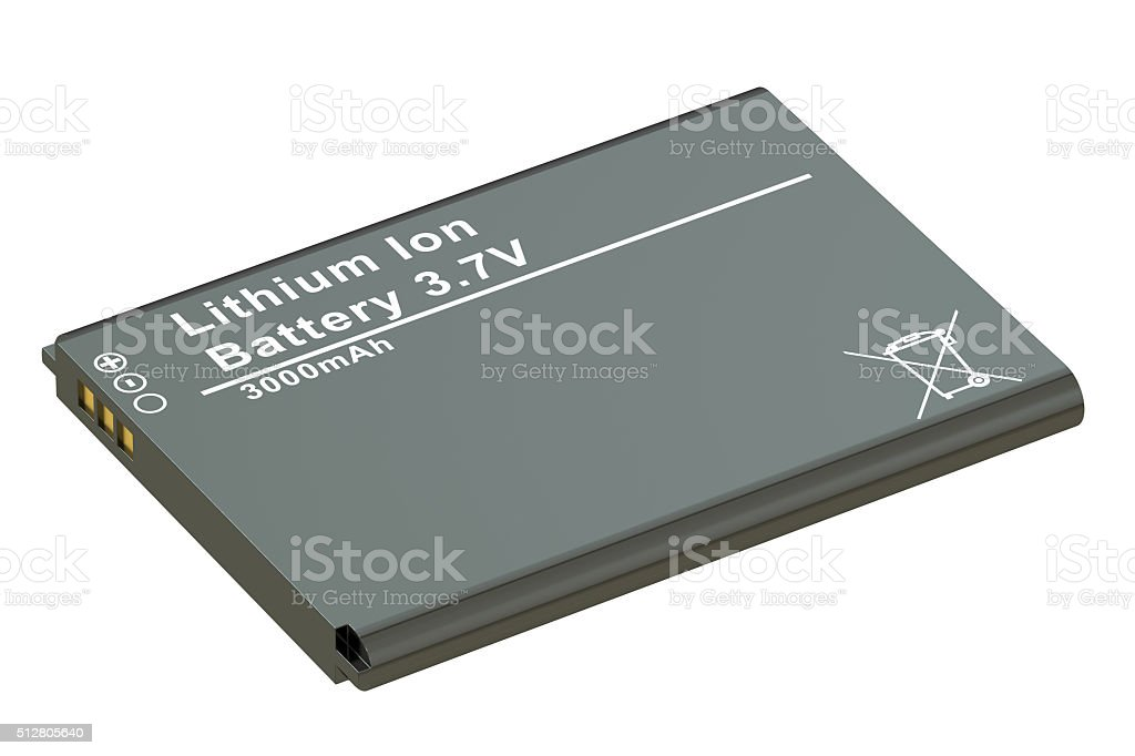 Battery or accumulator for phone stock photo