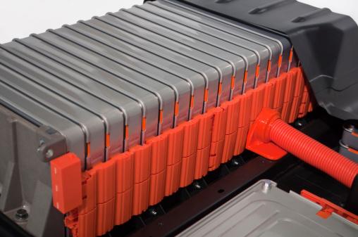 Paquetes De Baterías De Coche Eléctrico Foto de stock y más banco de imágenes de Batería