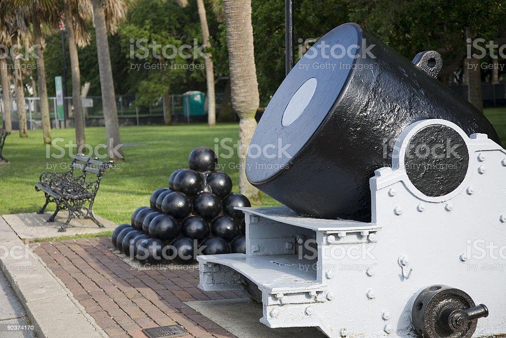 Battery Park in Charleston, South Carolina royalty-free stock photo