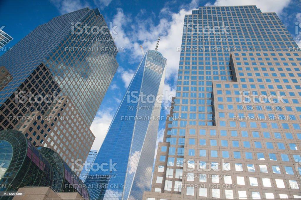 Battery Park on Manhattan Island stock photo