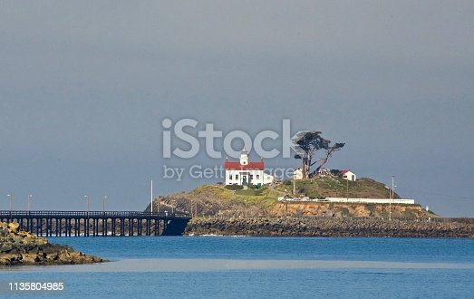 A lighthouse in Crescent City, CA