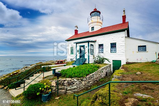Battery Point lighthouse at Crescent City, California, USA.