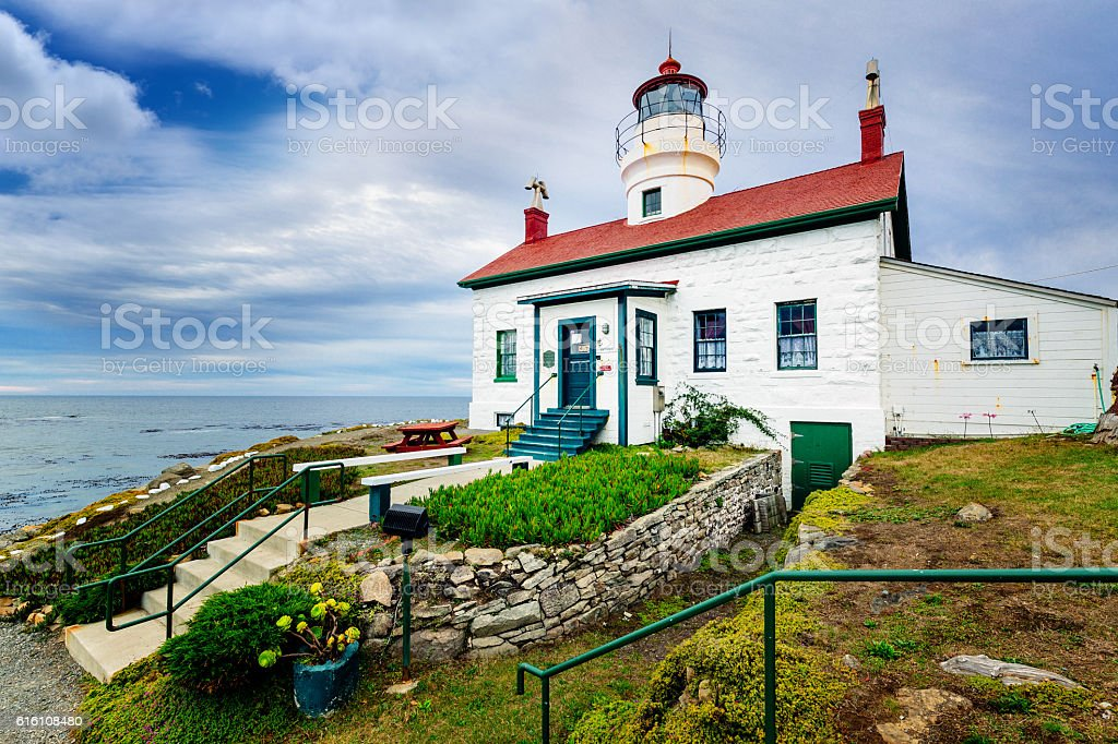 Battery Point lighthouse, Crescent City, California stock photo