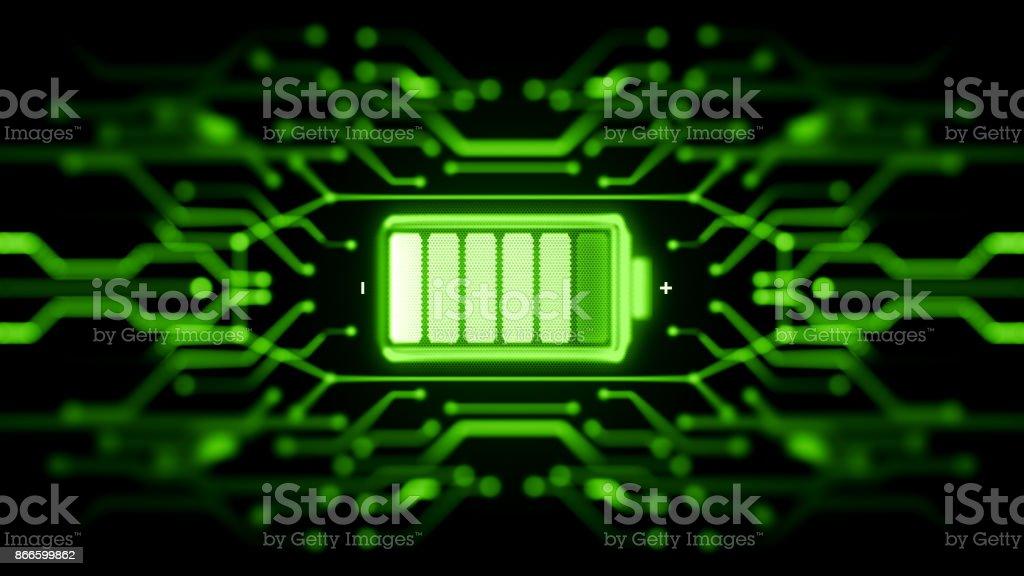 バッテリー供給コンセプト ストックフォト