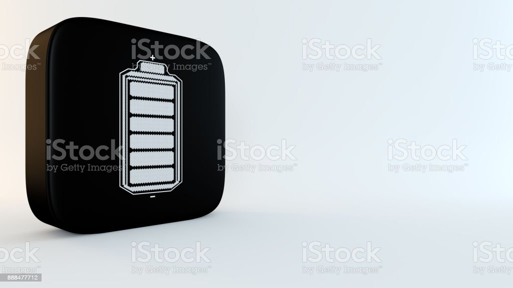 Battery supply concept stock photo