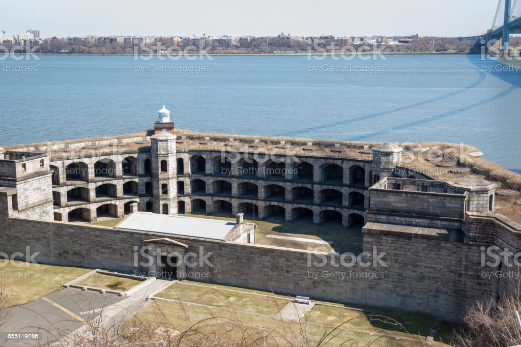 Battery Weed at Fort Wadsworth stock photo