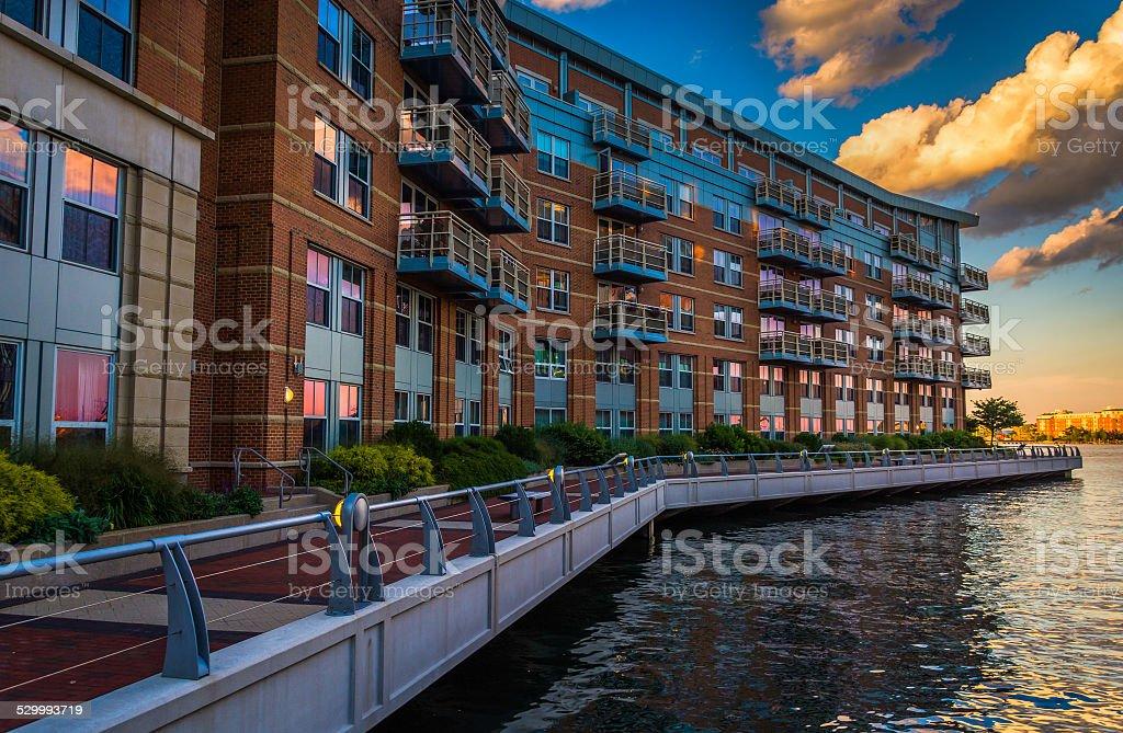 Battery Wharf, in Boston, Massachusetts. stock photo