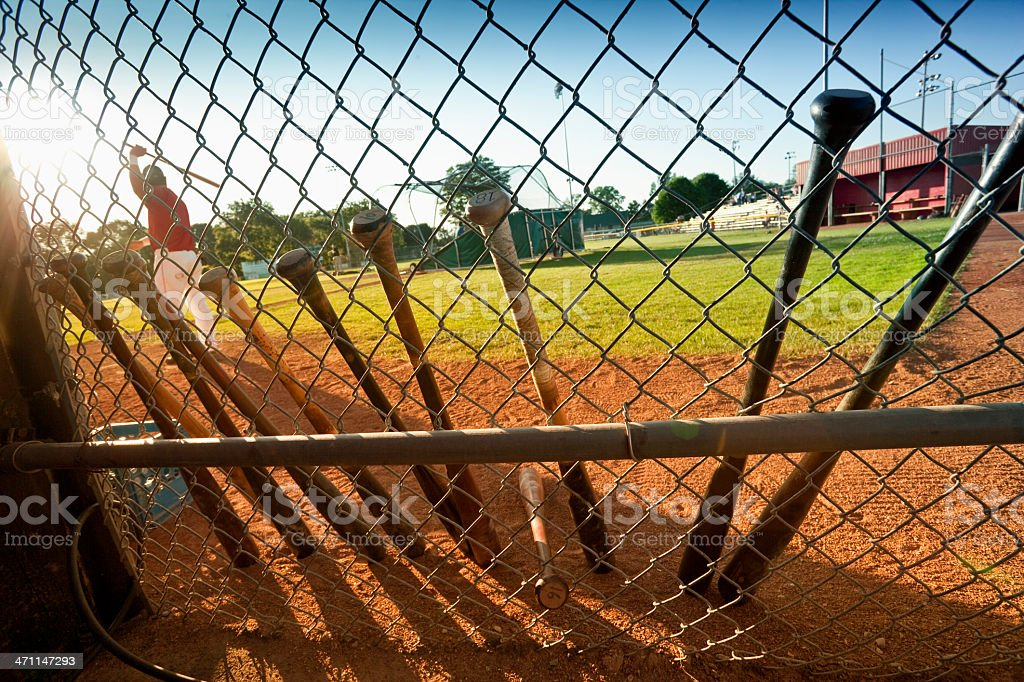 Batting practice at the field royalty-free stock photo