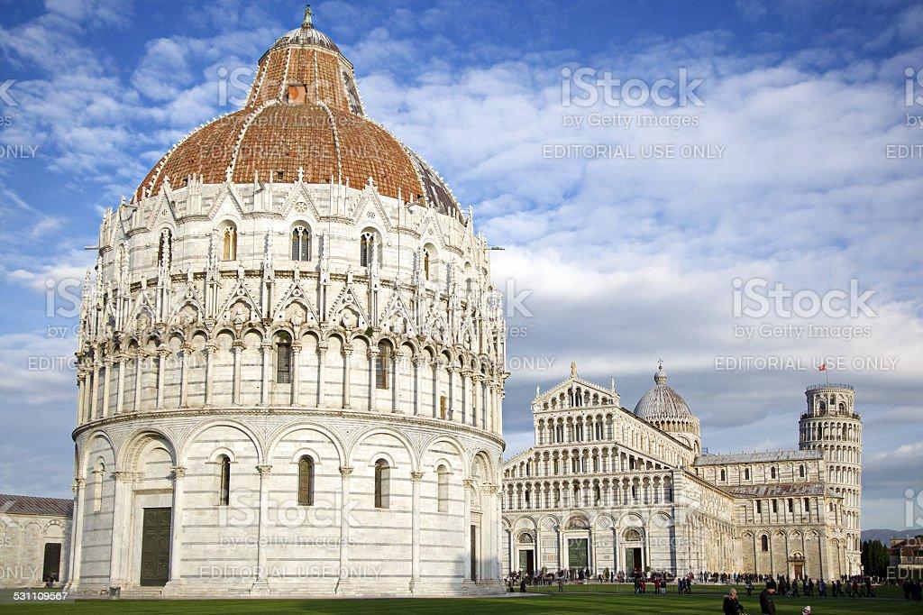 Battistero di San Giovanni. Piazza dei Miracoli. Pisa. Italy. stock photo