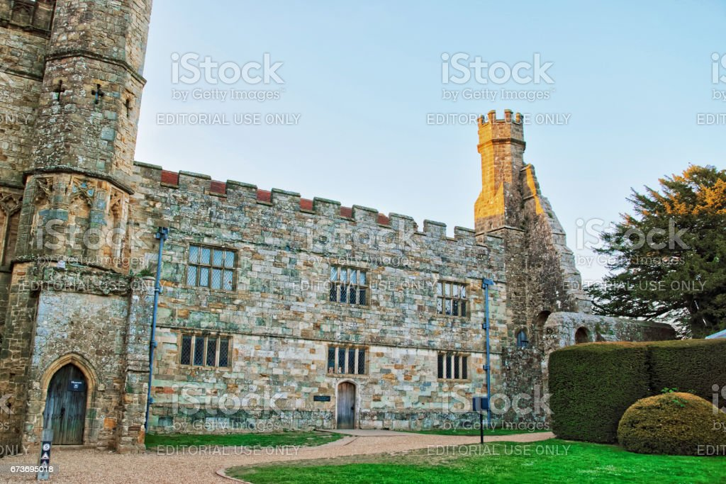 Battle Abbey in East Sussex in England stock photo