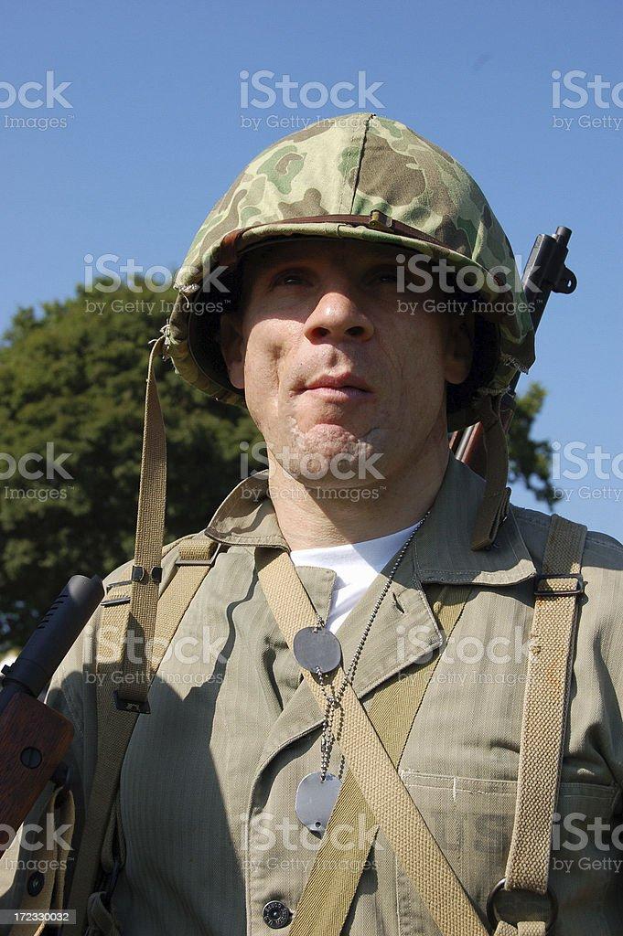 Battle Hardened Marine. royalty-free stock photo