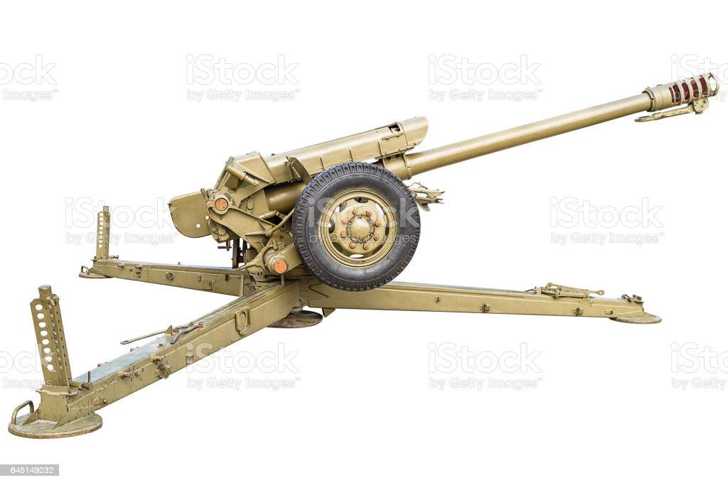 Battle howitzer stock photo