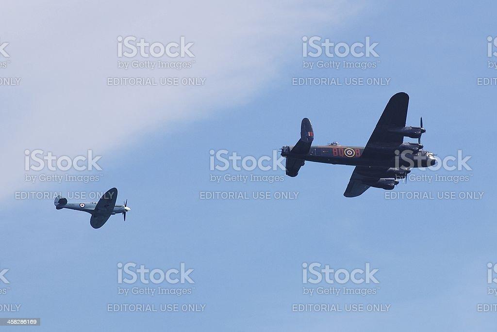 Battle of Britain Memorial Flight royalty-free stock photo