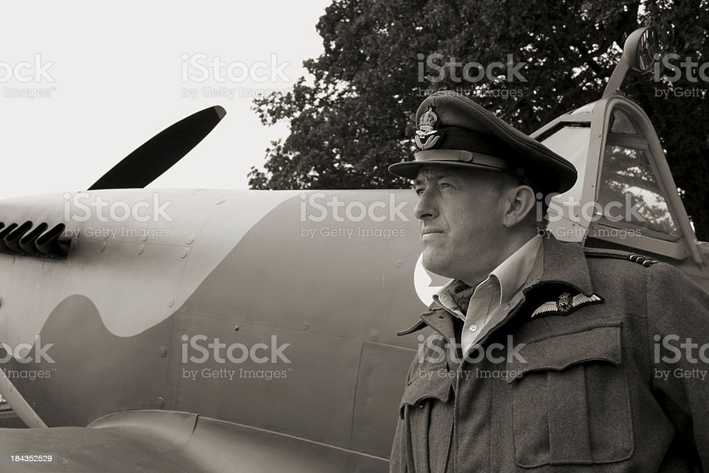 Battle of Britain Pilot. stock photo