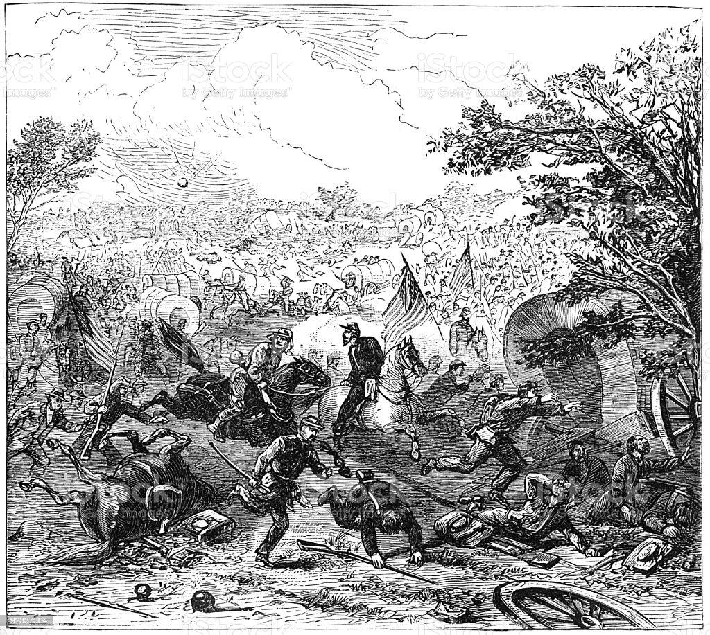 Battle of Bull Run stock photo