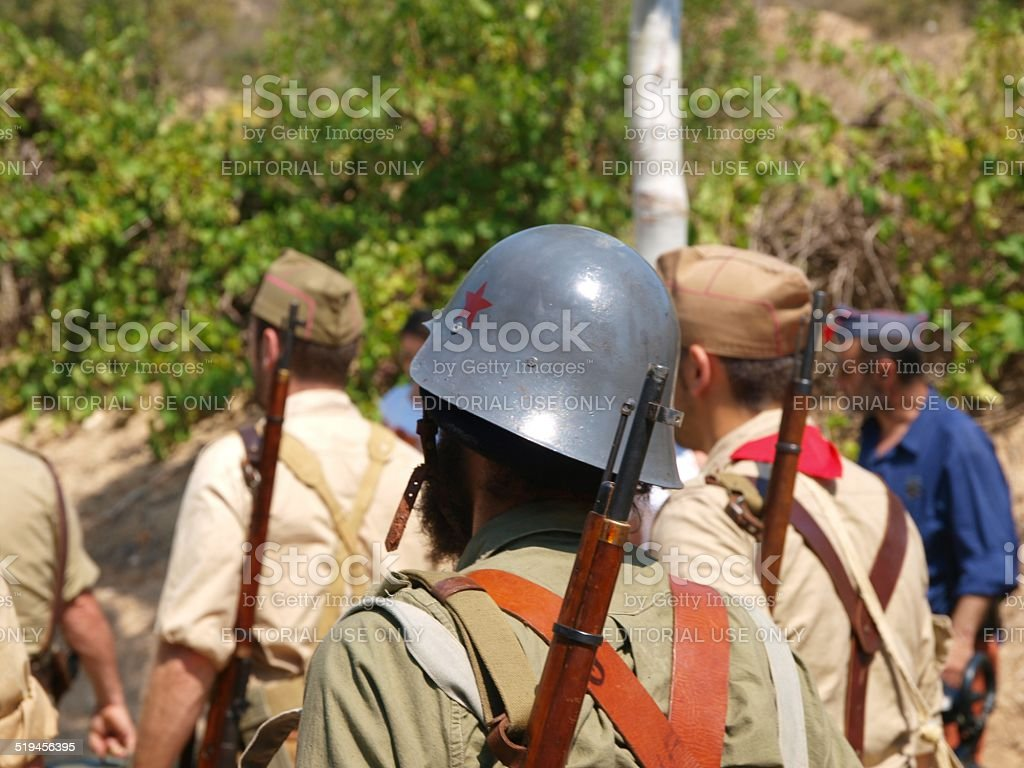 Battle of Fayon ( 26/07/2014 ) stock photo