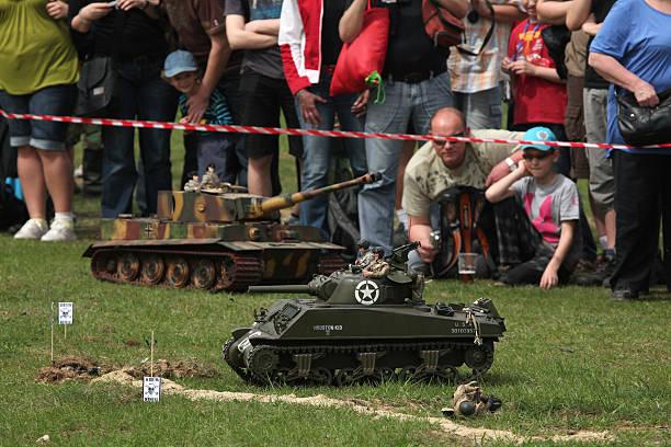 Battle of the Bulge. Échelle des modèles d'époque rejouent stationnement - Photo