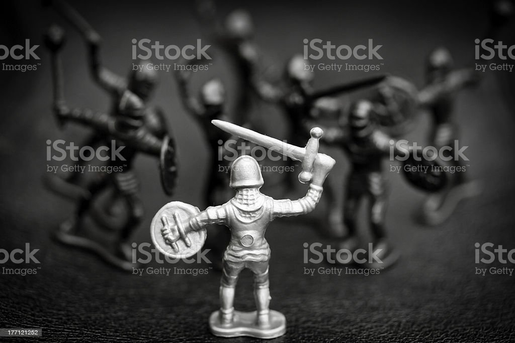 Battle of the knights stock photo
