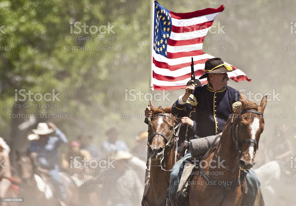 Battle of the Little Big Horn stock photo