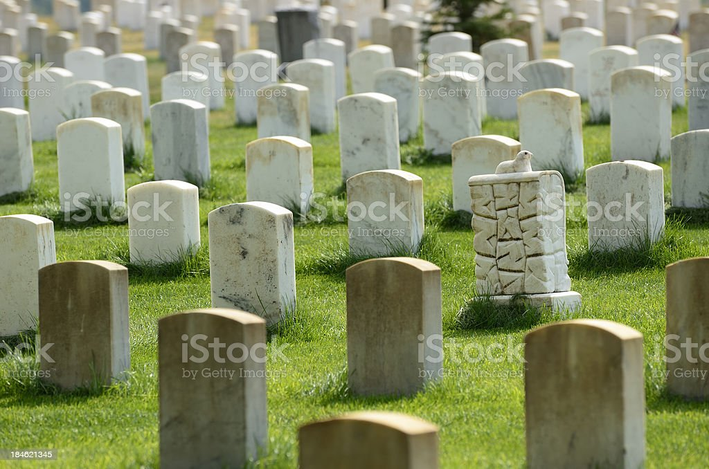 Battle of the Little Bighorn Cemetery stock photo