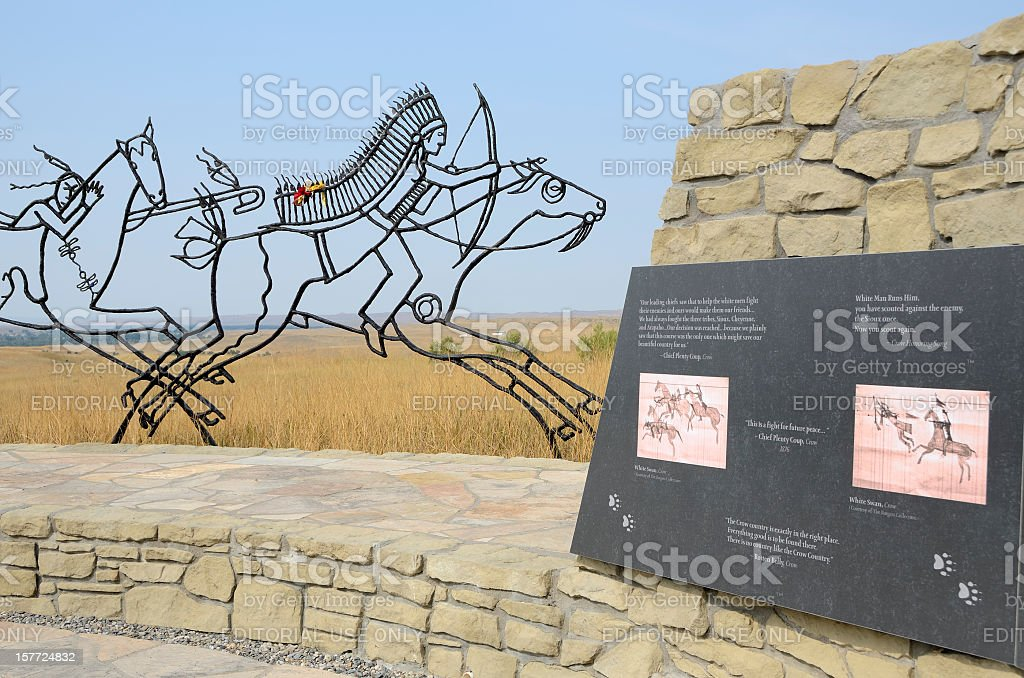 Battle of the Little Bighorn Monument stock photo