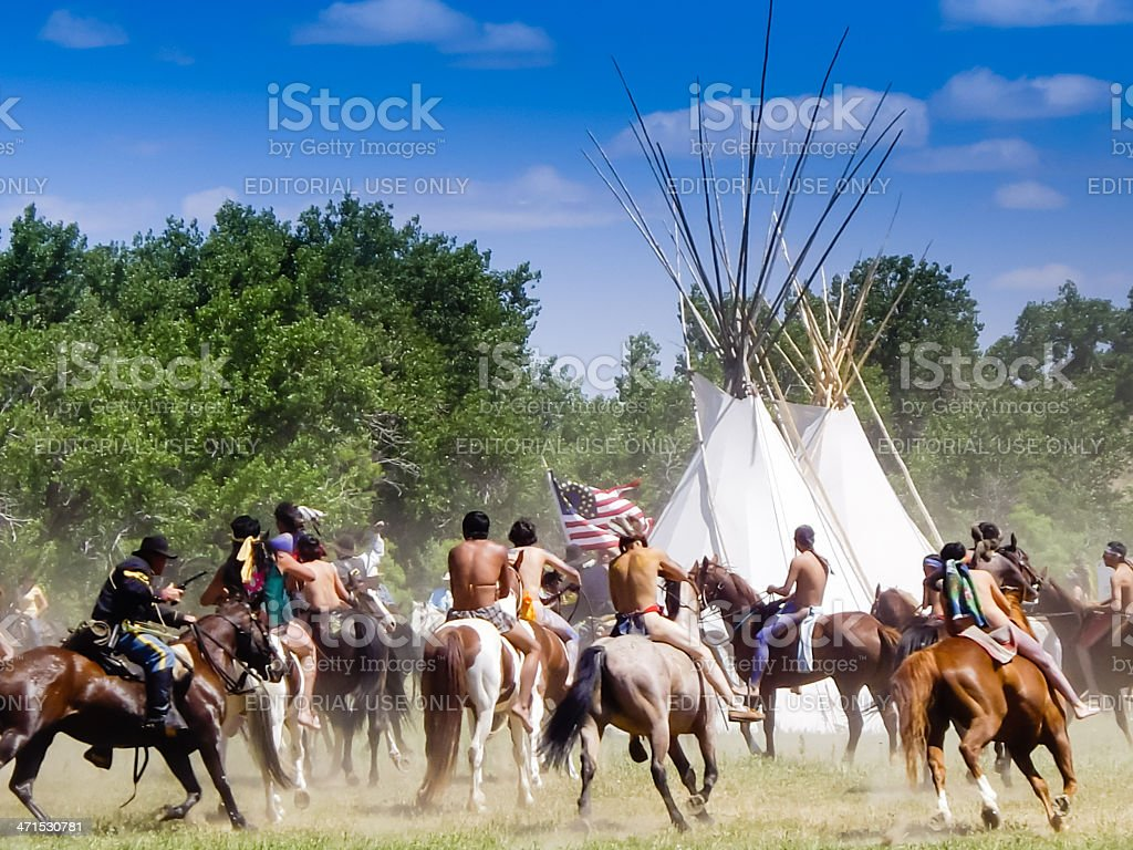 Battle of the Little Bighorn Reenactment royalty-free stock photo