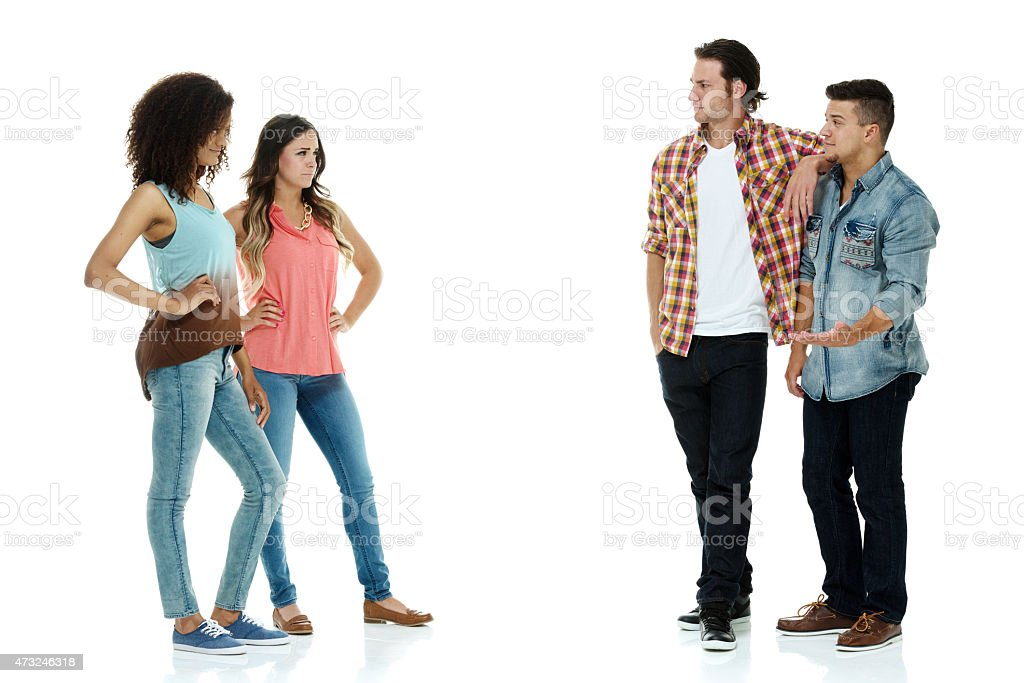 Battle of the sexes stock photo