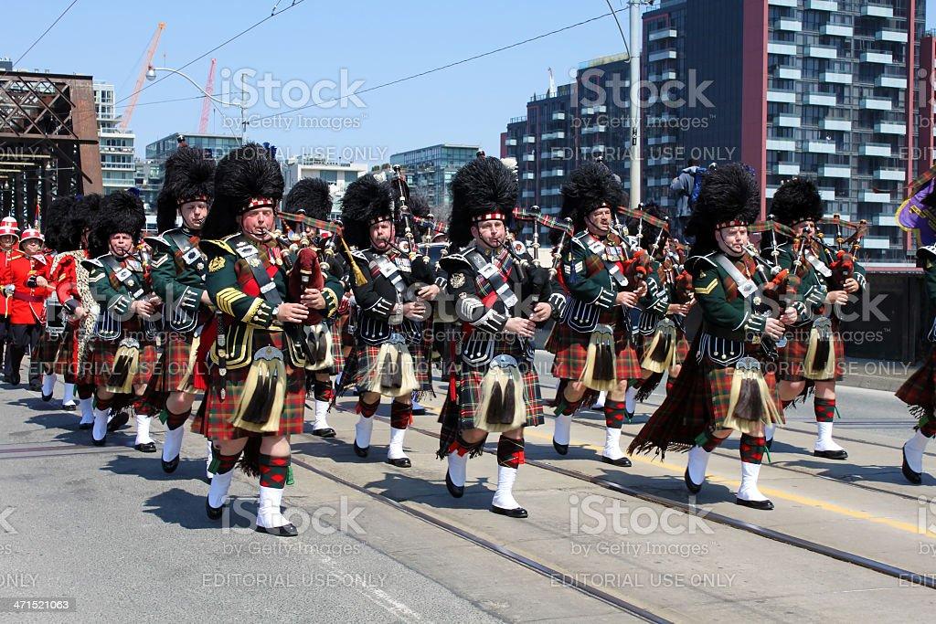 Battle of York Commemoration Parade royalty-free stock photo