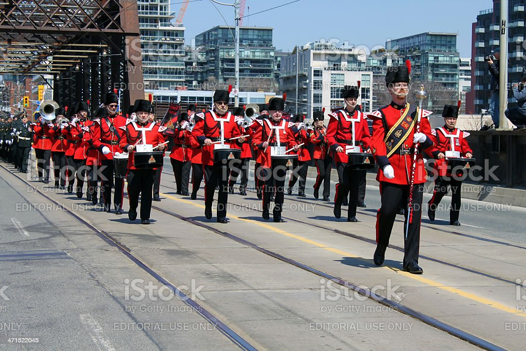 Battle of York Commemoration Parade royalty-free stock photo
