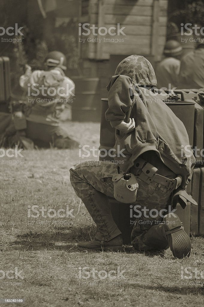 WW2 Battle. stock photo