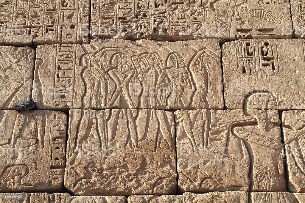 Battle scene, Medinet Habu, Theban Necropolis, Luxor, Egypt stock photo