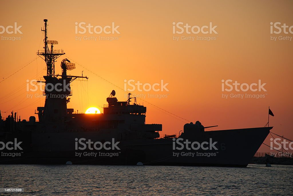 Battle ship stock photo