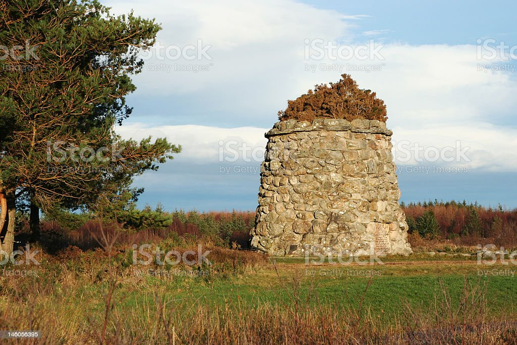 Battlefield at Culloden, Scotland stock photo