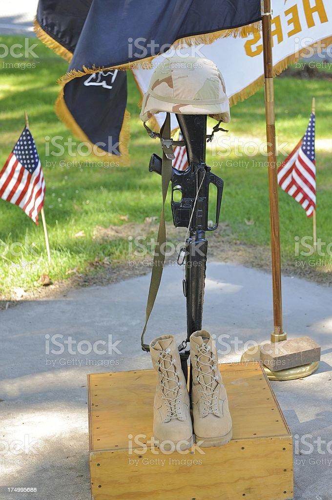 battlefield cross stock photo