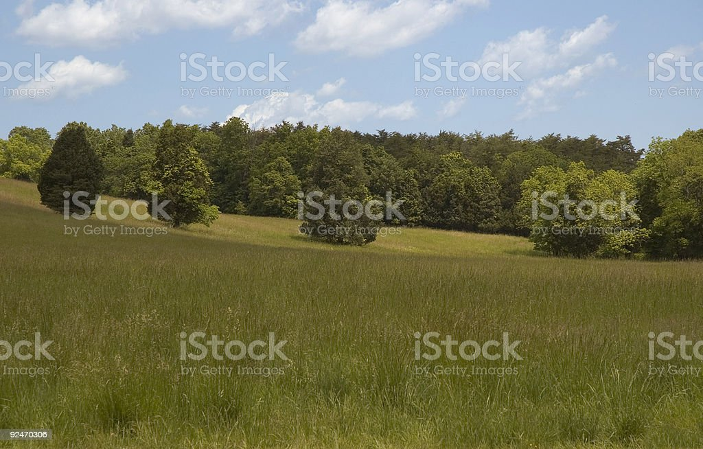 Battlefield Meadow stock photo