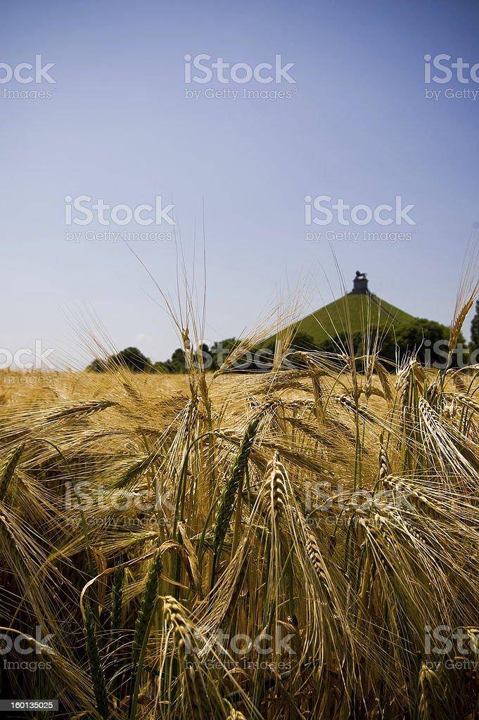 Battlefield of Waterloo stock photo