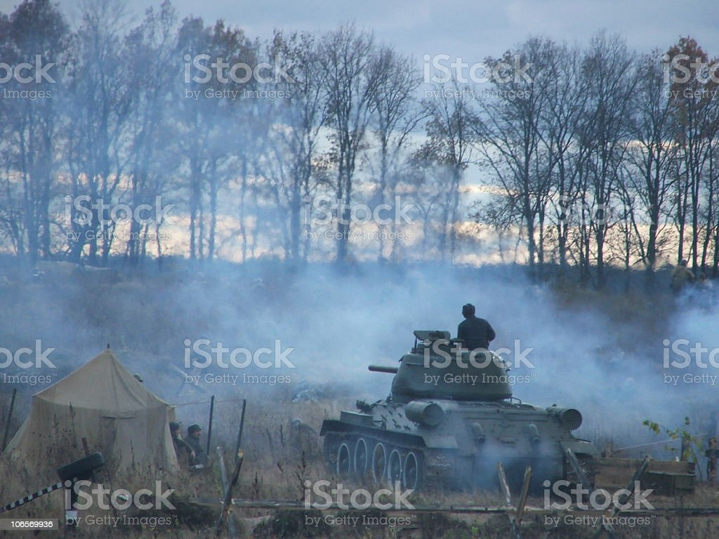 battlefield stock photo