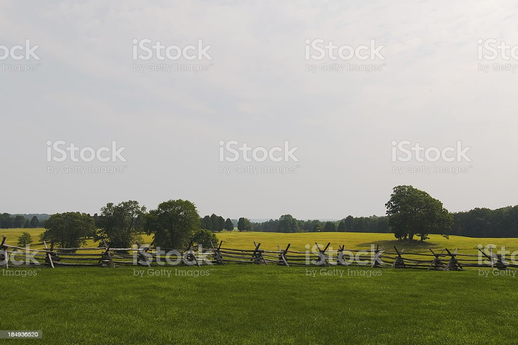 Battlefields of Manassas, american stock photo