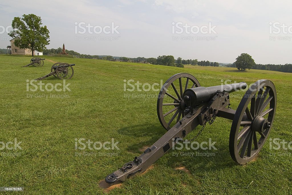 Battlefields of Manassas stock photo