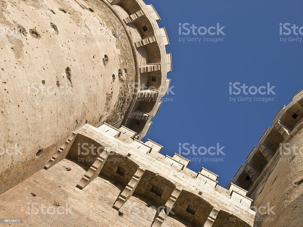 Battlements of a Castle stock photo