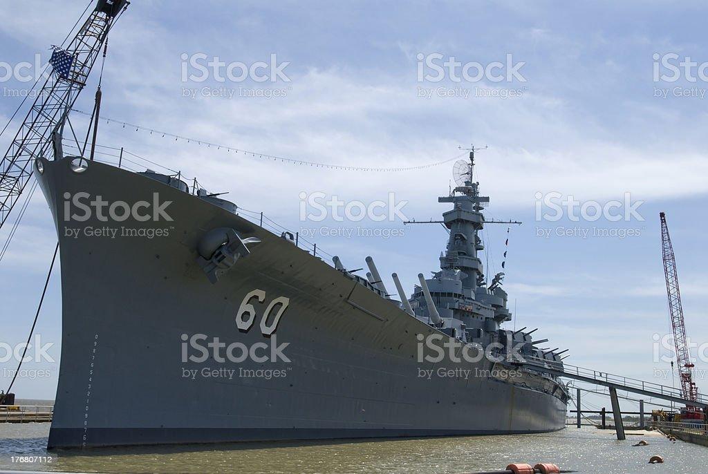 Battleship Alabama stock photo