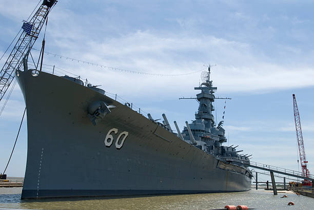 Battleship Alabama stock photo