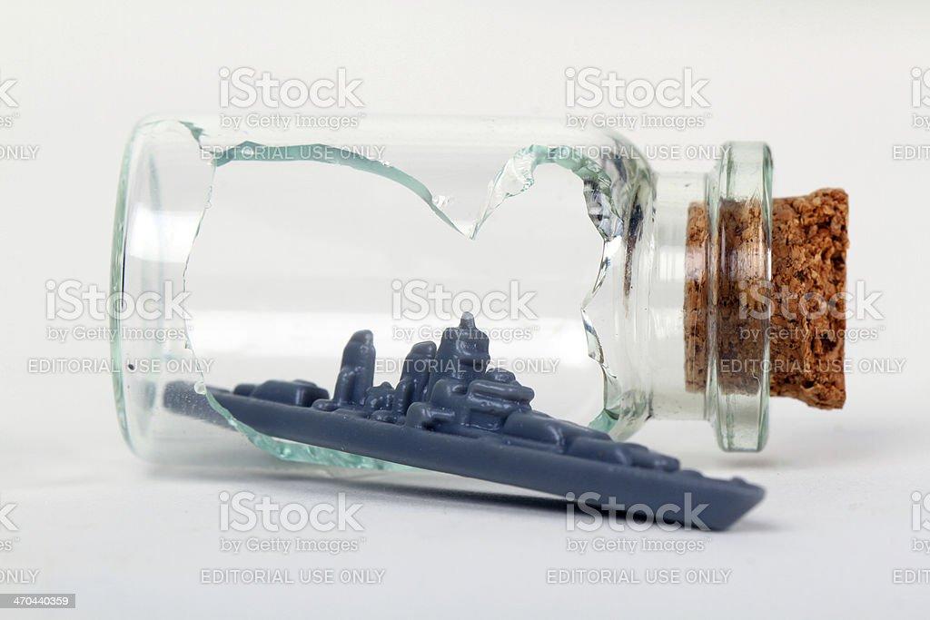 Battleship Escape stock photo