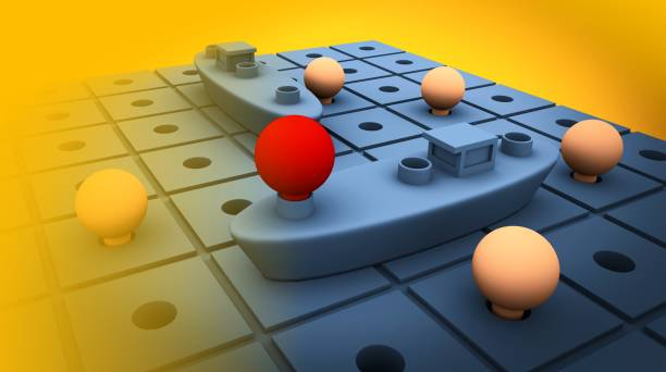 Battleship game - 3d render stock photo