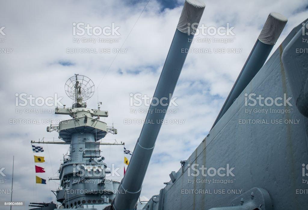 Battleship Guns stock photo