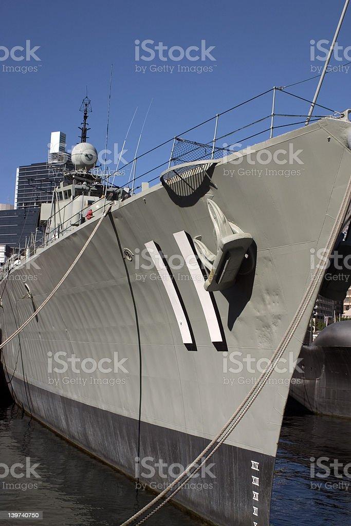 Battleship HMAS Vampire stock photo