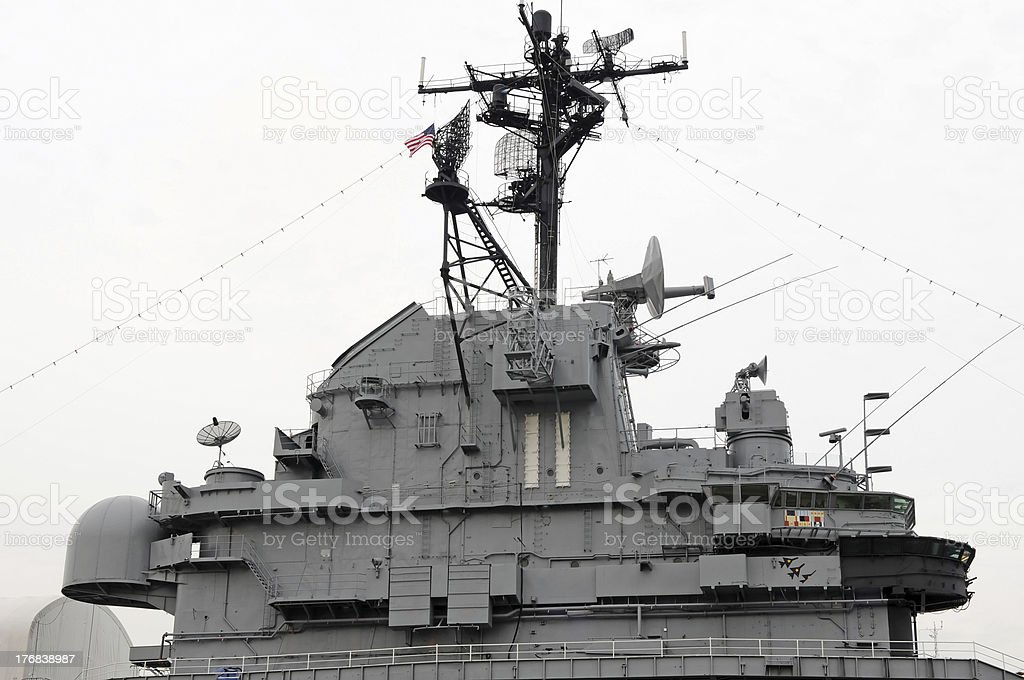 Battleship Intrepid Conning Tower royalty-free stock photo