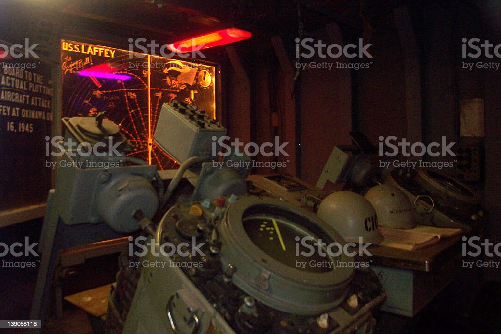 Battleship Navigation Room royalty-free stock photo