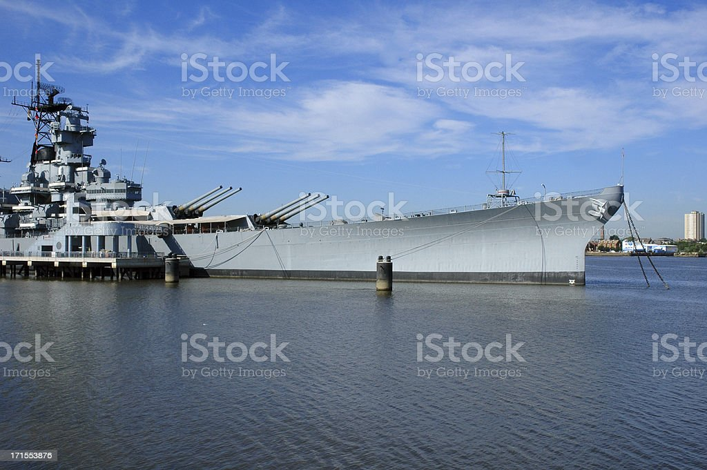 battleship new jersey royalty-free stock photo